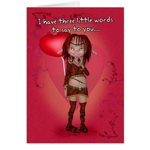 Humour Valentine's Day Card - Lusfully Yours