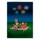 Humourous 4th of July Card with Fireworks -