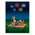 Humourous 4th of July Card with Fireworks - Friend