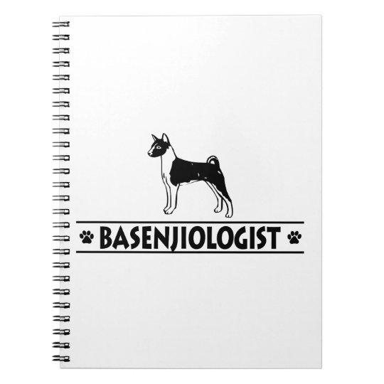 Humourous BASENJI DOG Spiral Notebook
