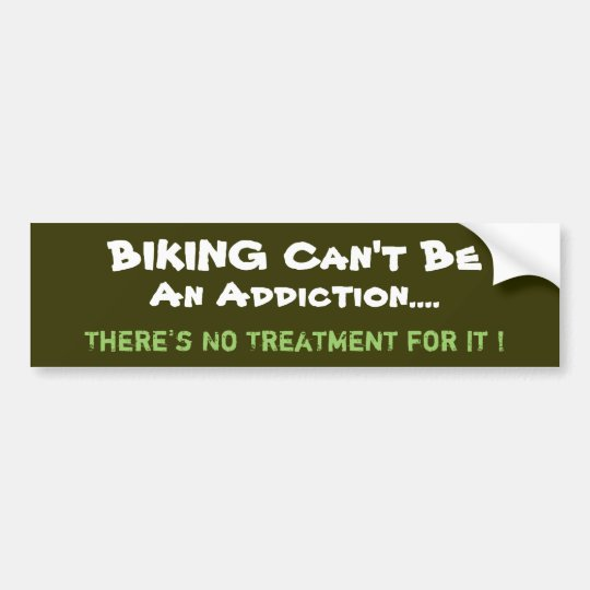 Humourous Biking Bumper Sticker