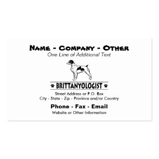 Humourous Brittany Pack Of Standard Business Cards