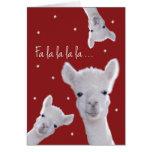 Humourous Christmas Carol Card, Llamas & Greeting Card