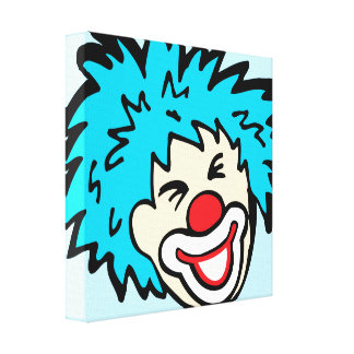 Humourous clown graphic canvas wrap print stretched canvas print