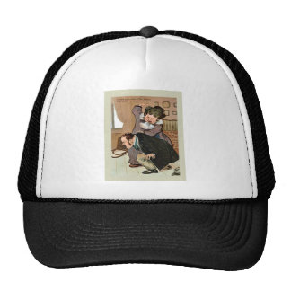 Humourous couple trucker hats