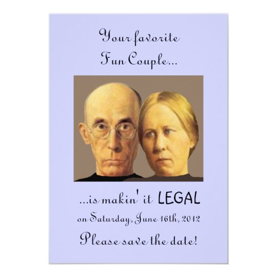 Humourous Fun Couple Unique Nerdy Save-The-Date Card