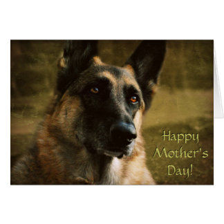 Humourous German Shepherd Mother's Day Card