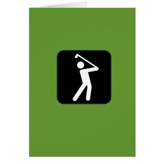 Humourous Golfing Card