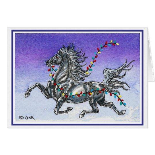 Humourous Horse Christmas Card