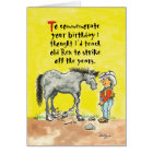 Humourous horsey birthday card