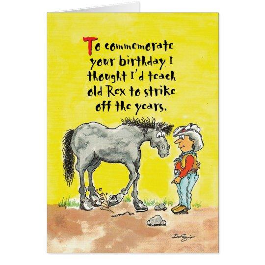 Humourous horsey birthday card