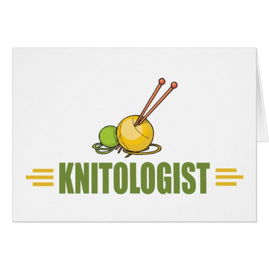 Humourous Knitting Greeting Card