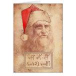 Humourous Leonardo as Santa