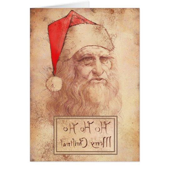 Humourous Leonardo as Santa Card