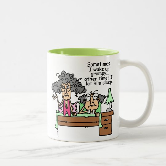 Humourous Let Grumpy Sleep Two-Tone Coffee Mug