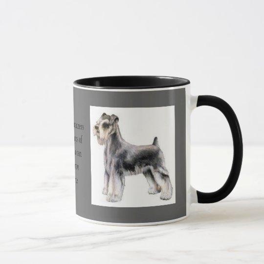 Humourous Mini Schnauzer & Coffee Lover Mug
