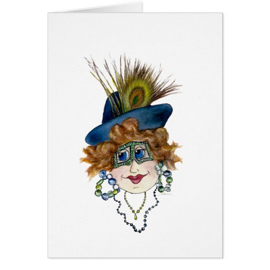 Humourous Peacock Lady Out of Order Card