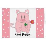 Humourous Piggy Birthday Greeting Card