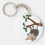 Humourous Possum Dangling from Tree