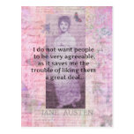 Humourous quote by JANE AUSTEN about people