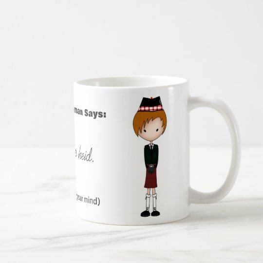 Humourous Scottish Dialect Scotsman Cartoon 4 Coffee Mug