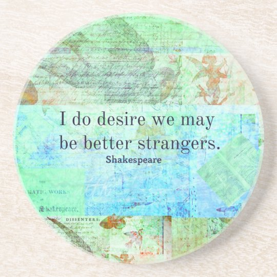Humourous Shakespeare Insult quote Coaster
