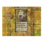Humourous Shakespeare QUOTE art words Postcard
