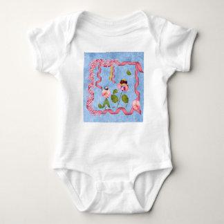 Humourous Sweet Peas Pink & Mauve Flower People Baby Bodysuit