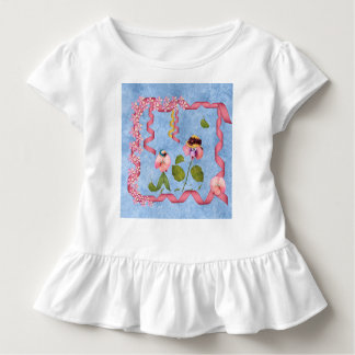 Humourous Sweet Peas Pink & Mauve Flower People Toddler T-Shirt