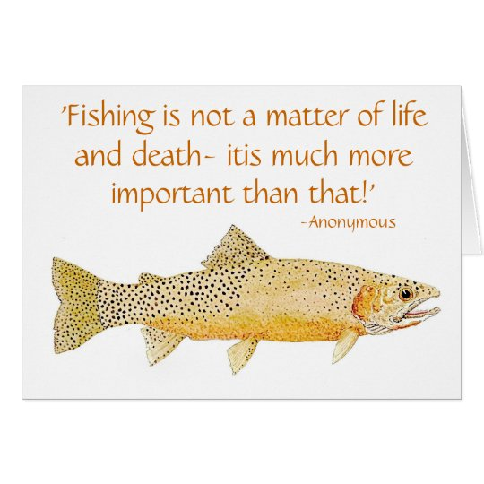 Humourous Trout Card with quote 2