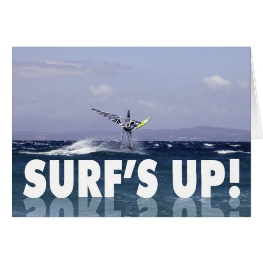 Humourous Windsurfer Birthday for Him Card