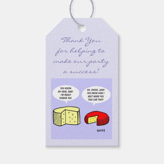Humourous Wine and Cheese Tasting Party Favours Gift