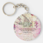 Humourous Yiddish Proverb about LIFE Basic Round Button Key Ring