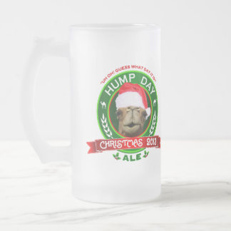 Hump Day Camel Christmas Ale Label Frosted Mug