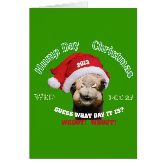 Hump Day Camel Christmas Card