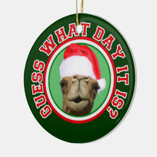Hump Day Camel Santa Christmas 2013 Ornament