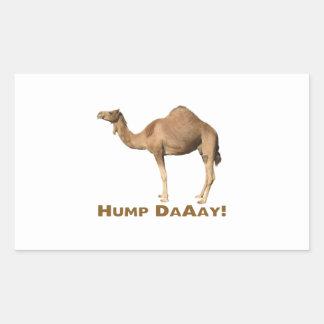 Hump day rectangular sticker