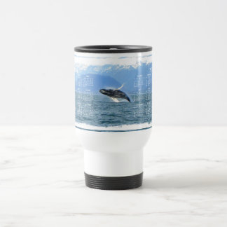 Humpback Acrobat; 2012 Calendar Stainless Steel Travel Mug