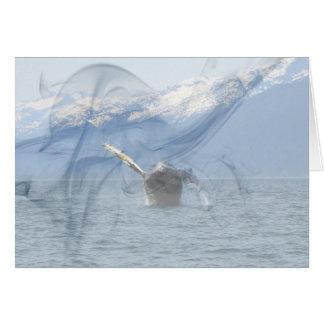 Humpback Barrel Roll Card