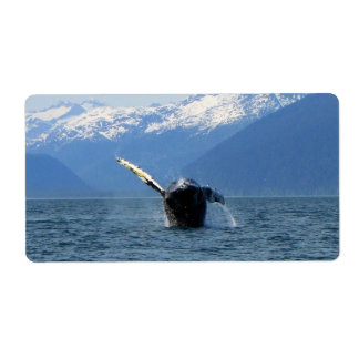 Humpback Barrel Roll Shipping Label