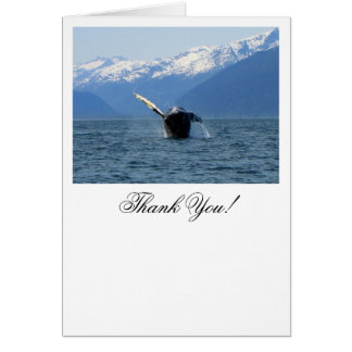 Humpback Barrel Roll; Thank You Stationery Note Card