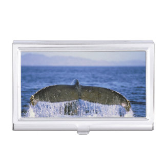 Humpback tail. business card holder
