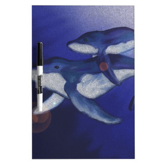 Humpback whale and baby dry erase board