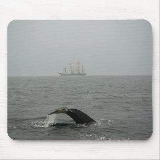 Humpback Whale and Tall Ship 2 Mousepad