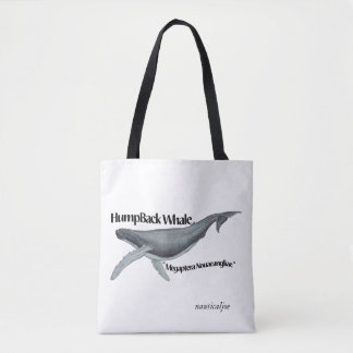humpback whale beach bag