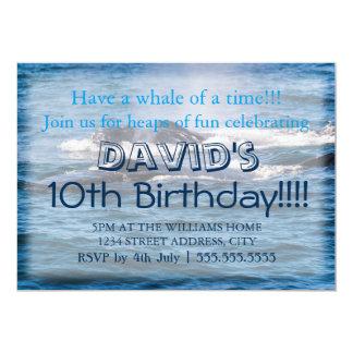 Humpback Whale Birthday Invitations