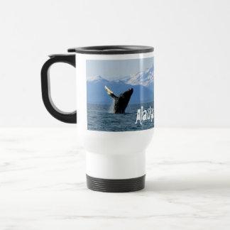 Humpback Whale Breaching; Alaska Stainless Steel Travel Mug