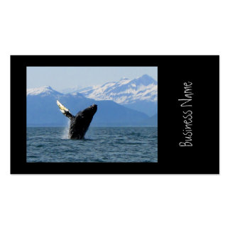 Humpback Whale Breaching Business Cards