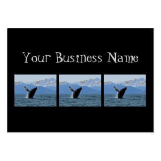 Humpback Whale Breaching Business Card Templates