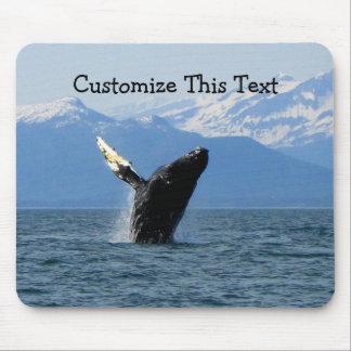 Humpback Whale Breaching Customizable Mouse Pads